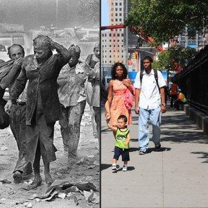 911テロ当日と今のニューヨークを比べた11枚の写真
